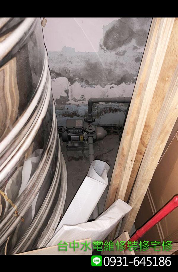 加壓馬達檢修-維修案例-台中水電維修裝修宅修